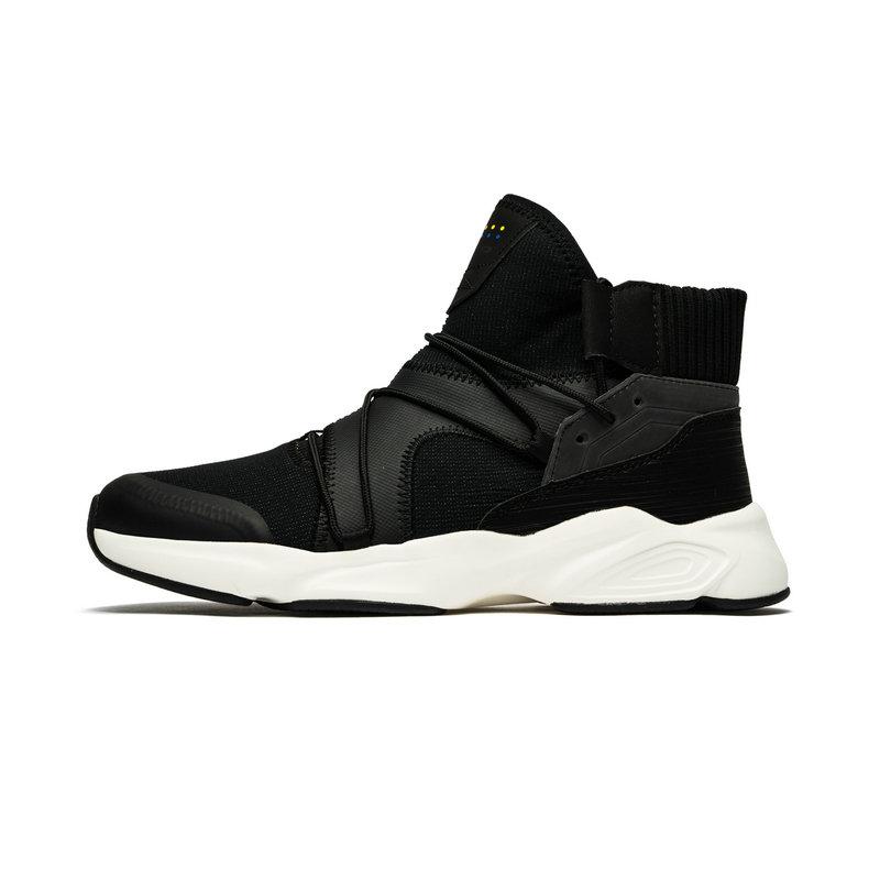 特步 专柜款 男子都市鞋 冬季新款高帮时尚舒适运动休闲鞋982419392876