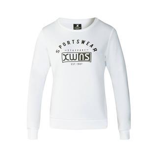 特步 专柜款 女子卫衣 冬季新款时尚字母印花舒适休闲运动套头衫982428051821