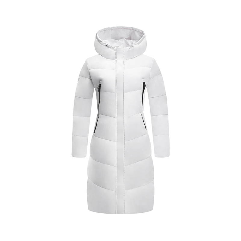 特步 专柜款 女子羽绒服 冬季新款休闲保暖轻便舒适运动中长款外套982428190770