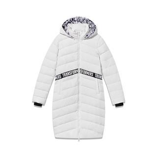【变形金刚联名款】特步 专柜款 女子冬季长款时尚保暖连帽羽绒服 982428190899