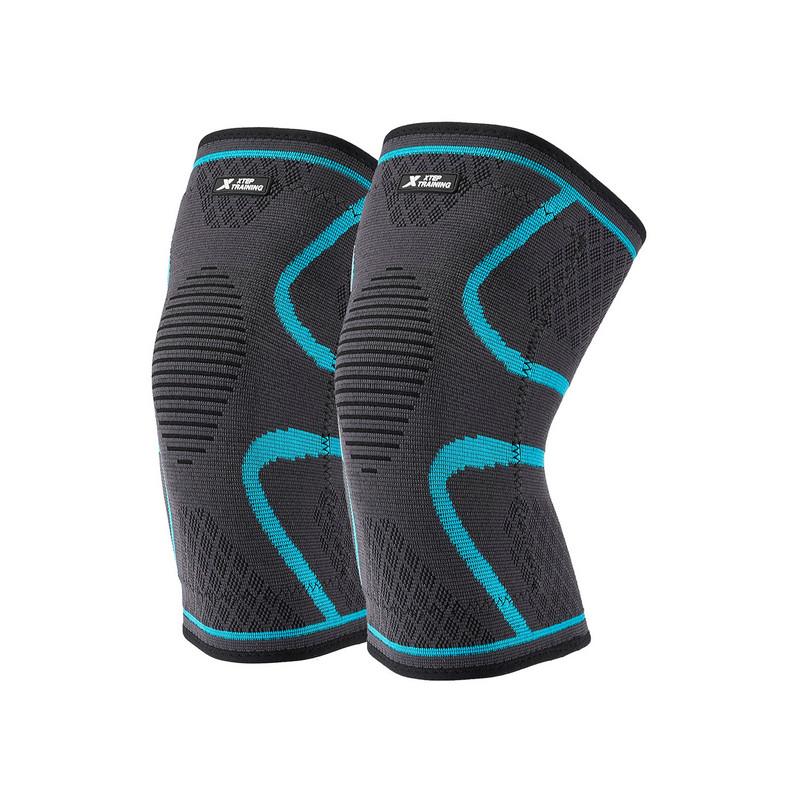 特步 专业男女士运动护膝(两只装) 秋冬新款舒适加绒保暖潮流两只装护具882437329061