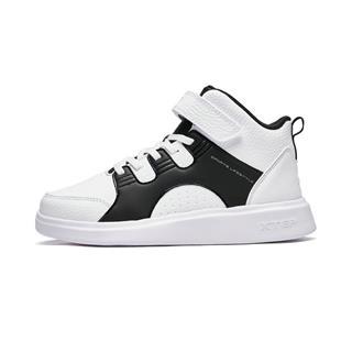 特步 儿童板鞋 2018冬季新款高帮休闲男童运动鞋682415319082