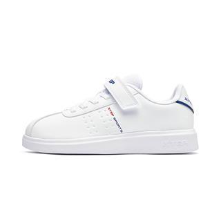 特步 男童板鞋 2019年春季新款时尚男童小白鞋中大童休闲鞋681115319176
