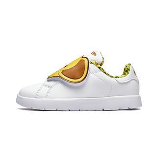 特步 儿童板鞋 2018冬新款时尚可爱动物小白鞋中小童休闲鞋682316319026