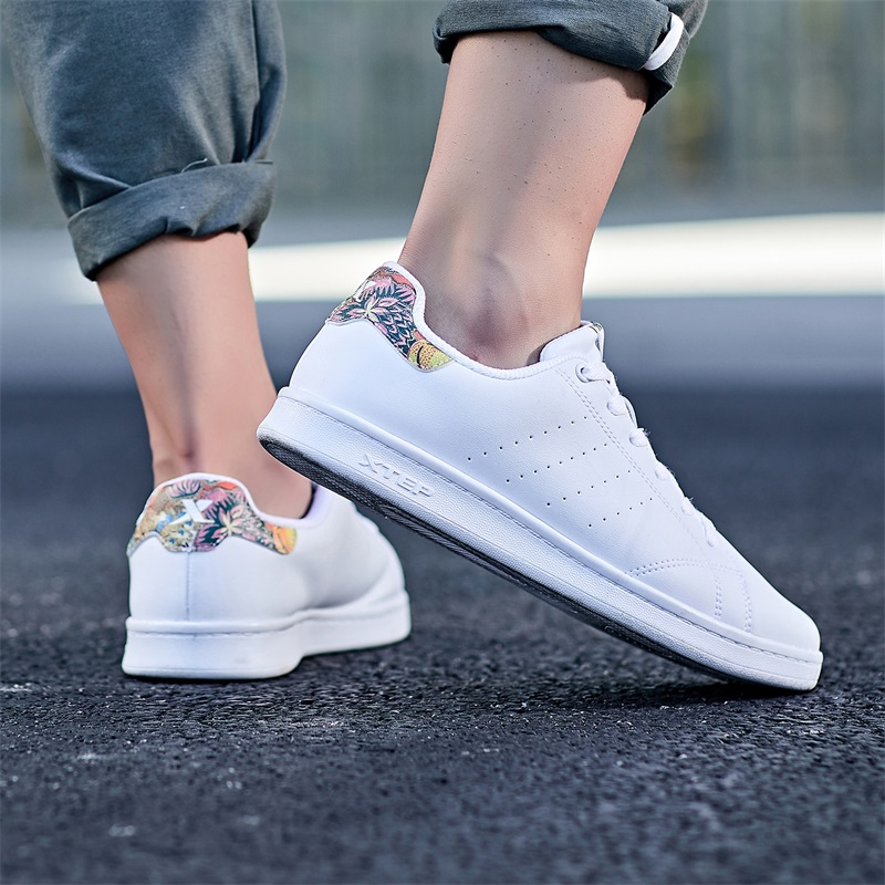 特步 专柜款 男鞋板鞋男夏季新款小白鞋休闲鞋经典滑板鞋潮流时尚 982319319297