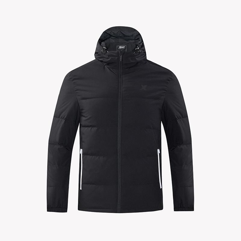 特步 男装运动外套 2018冬新款保暖时尚休闲羽绒服882429199105