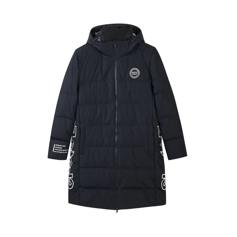 特步 专柜款 男子冬季新款时尚百搭长款羽绒服982429190815