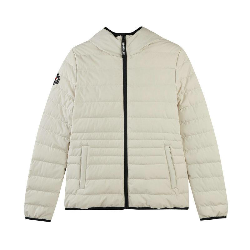 特步 专柜款 女子羽绒服 冬季新款保暖连帽舒适休闲外套982428190797