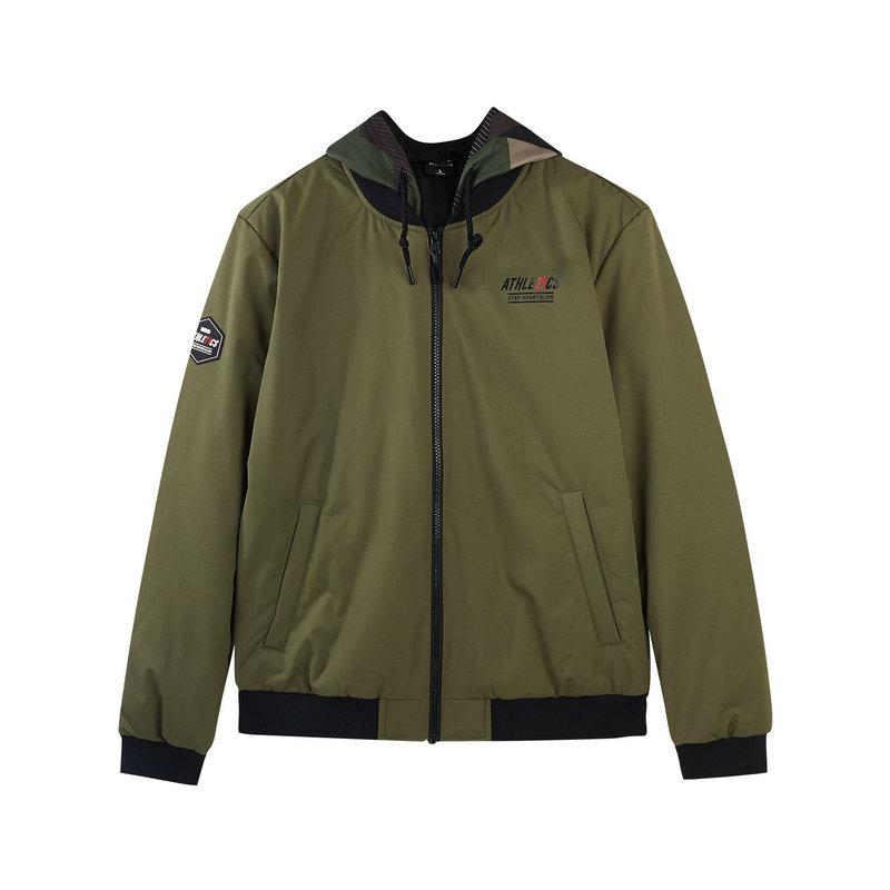 特步 专柜款 男子羽绒服 冬季新款时尚休闲连帽夹克外套982429190802