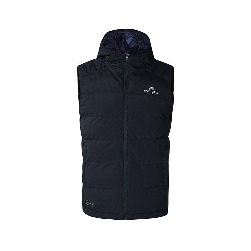 特步 专柜款 男子棉马甲 冬季新款保暖舒适连帽休闲健身运动外套982429270145