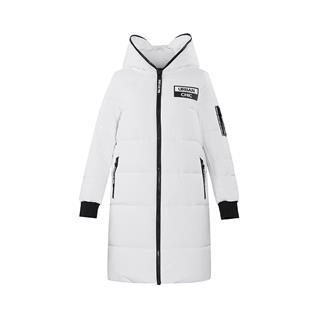特步 女子棉服 冬季新款时尚连帽长款保暖活力运动外套882428449221