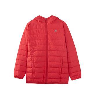 特步 女童羽绒服 冬季新款女童保暖羽绒时尚外套儿童薄款羽绒服882424199503