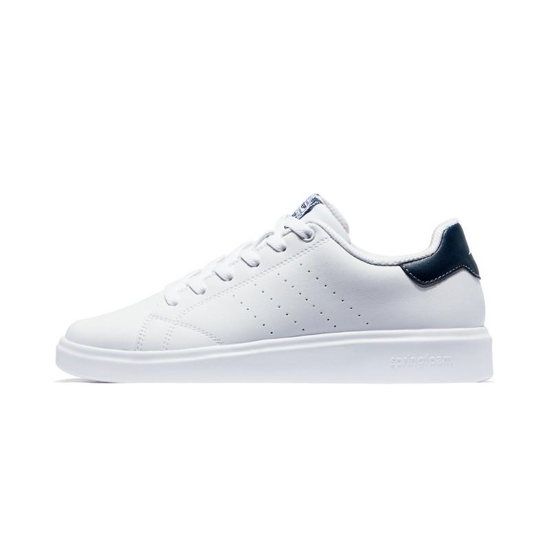 特步 男子板鞋 19春季新款舒适轻便休闲运动小白鞋881119319333