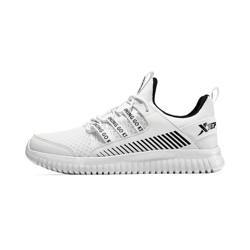 特步 女童跑鞋 19春季新款时尚网面系带儿童运动鞋681114119189