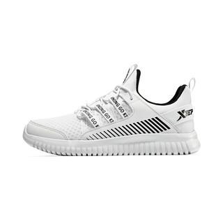 特步 女童跑鞋 时尚网面系带儿童运动鞋681114119189