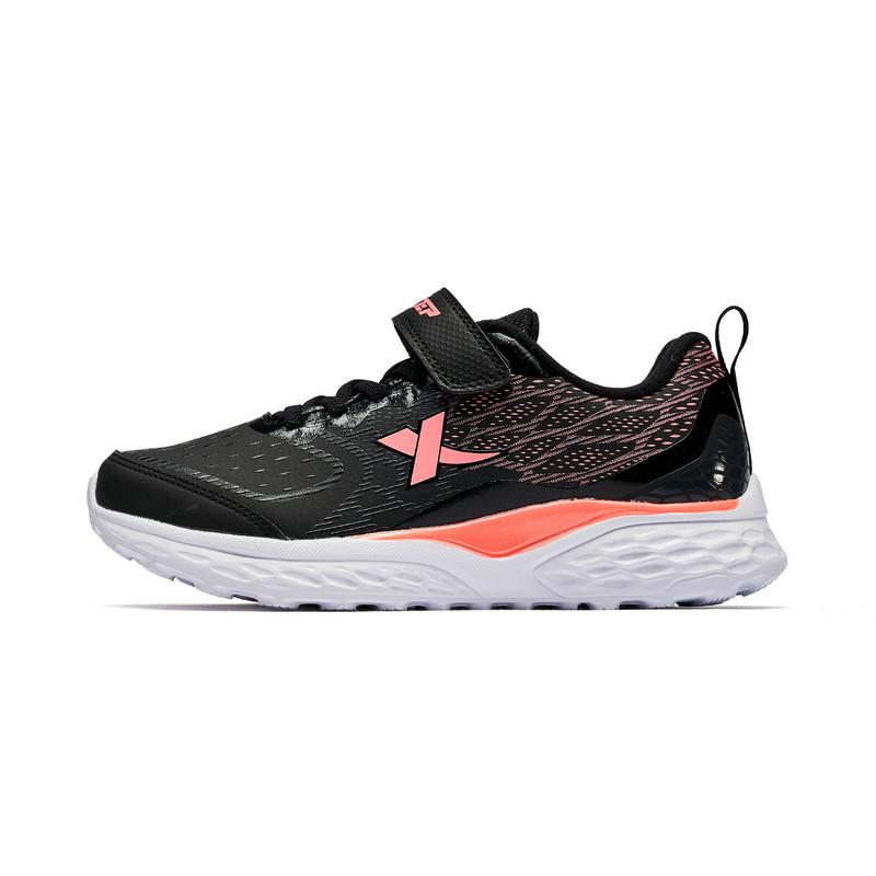 特步 专柜款 女童跑鞋 18冬季新款时尚网面减震中大童儿童运动鞋682414115537