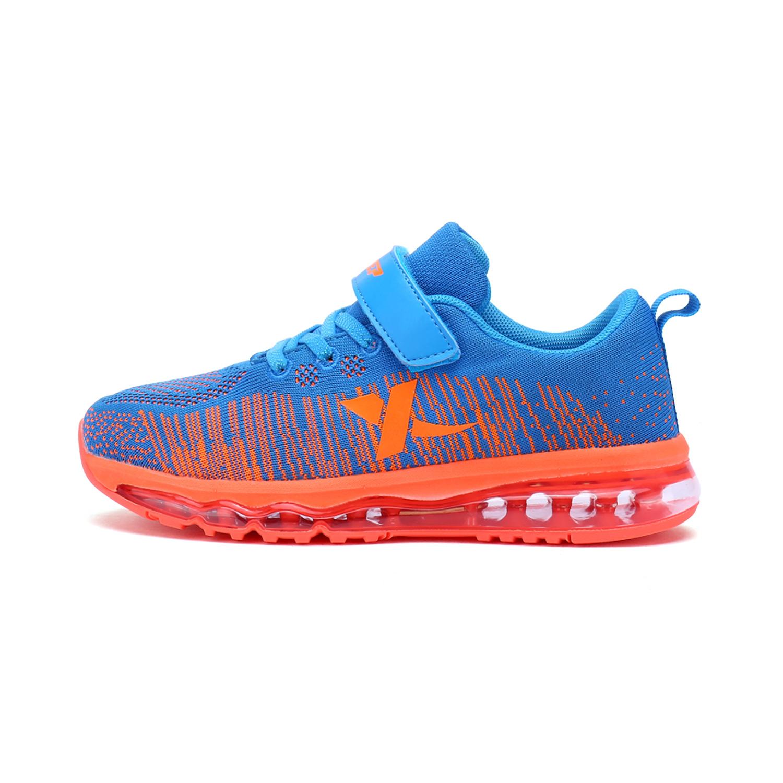 特步 男女童跑鞋 冬季气垫飞织网面缓震大童运动鞋683316119601