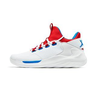特步 男子篮球鞋 高帮系带舒适耐磨室内鞋酷炫撞色运动防滑鞋881119129361