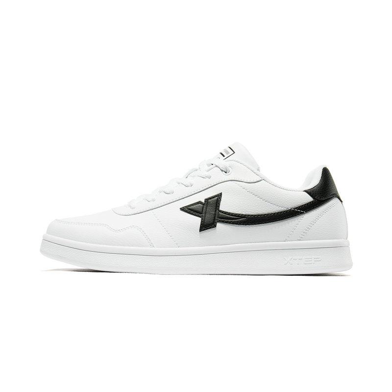 特步 男子板鞋 19春季新款舒适休闲时尚潮流小白鞋881119319520