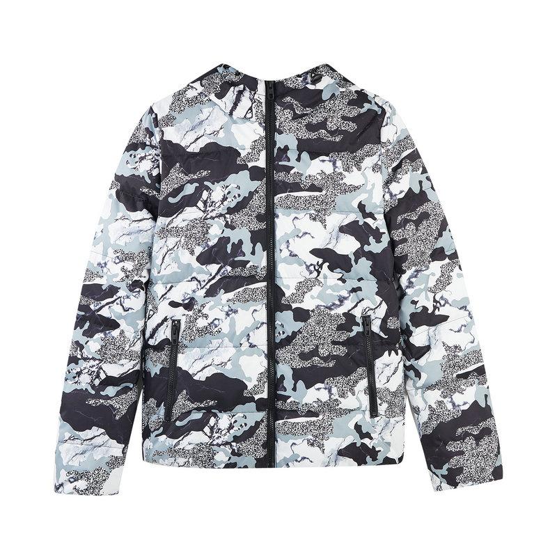 特步 专柜款 女子冬季都市时尚百搭连帽羽绒服982428190841