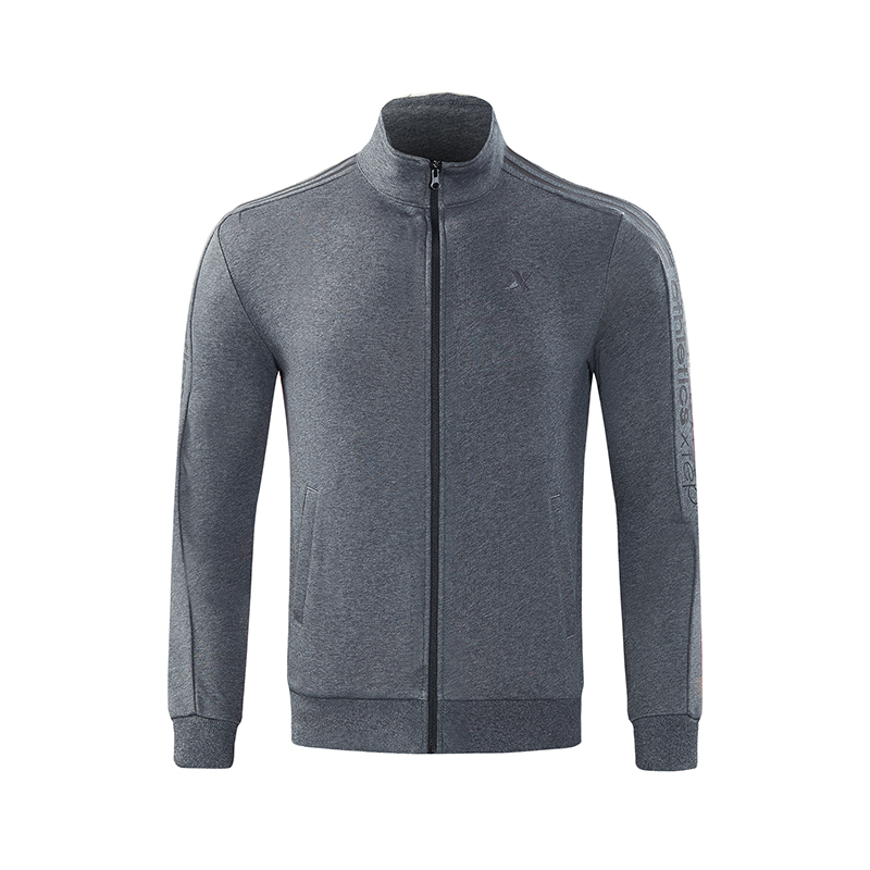 特步 男子针织上衣 秋季新款轻便舒适拉链运动针织外套882329069514
