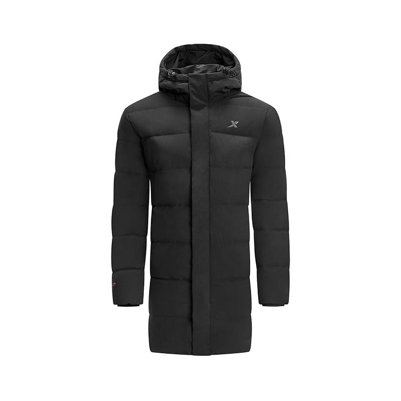 特步 专柜款 男子羽绒服 冬季新款时尚保暖中长款连帽运动外套982429190916