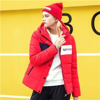 特步 女子羽绒服 外套2018冬季新款保暖厚外套舒适潮流882428199312