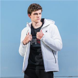 特步 棉衣男子棉服2018冬季新款保暖加厚外套连帽舒适潮流男装882429189113