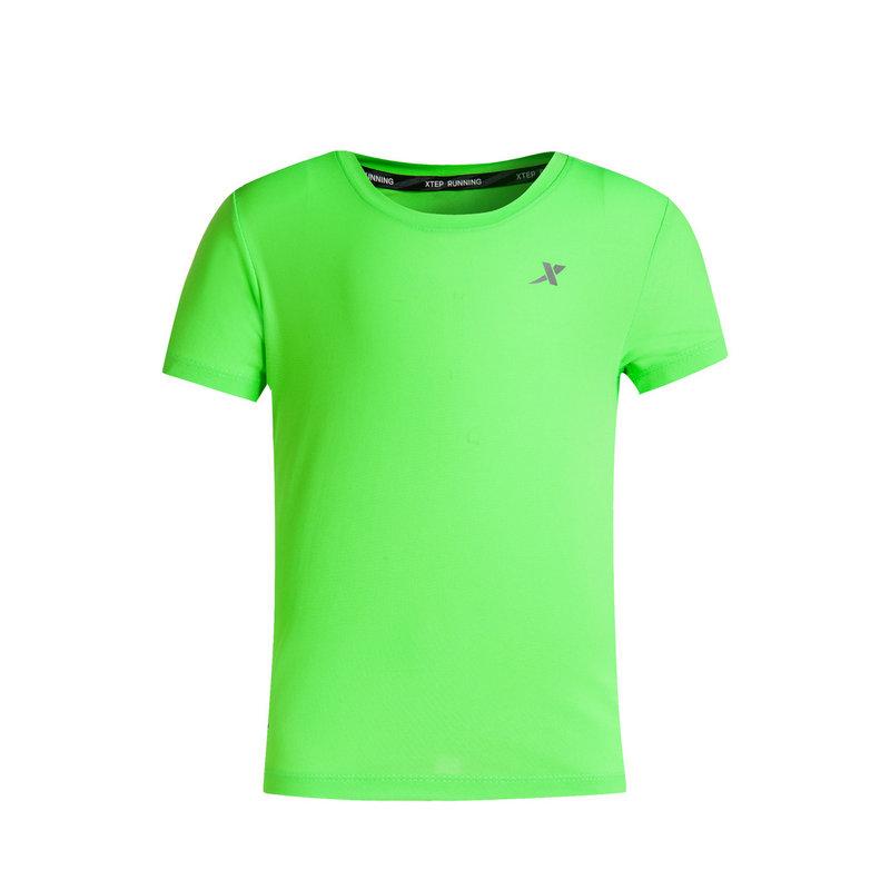 特步 儿童夏季跑步T恤 武汉马拉松T恤683225014186