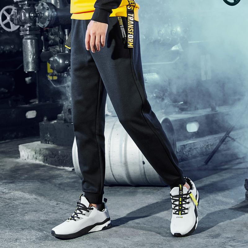 特步 专柜款 男子运动裤冬季新品加厚保暖收口休闲加绒长裤982429631565