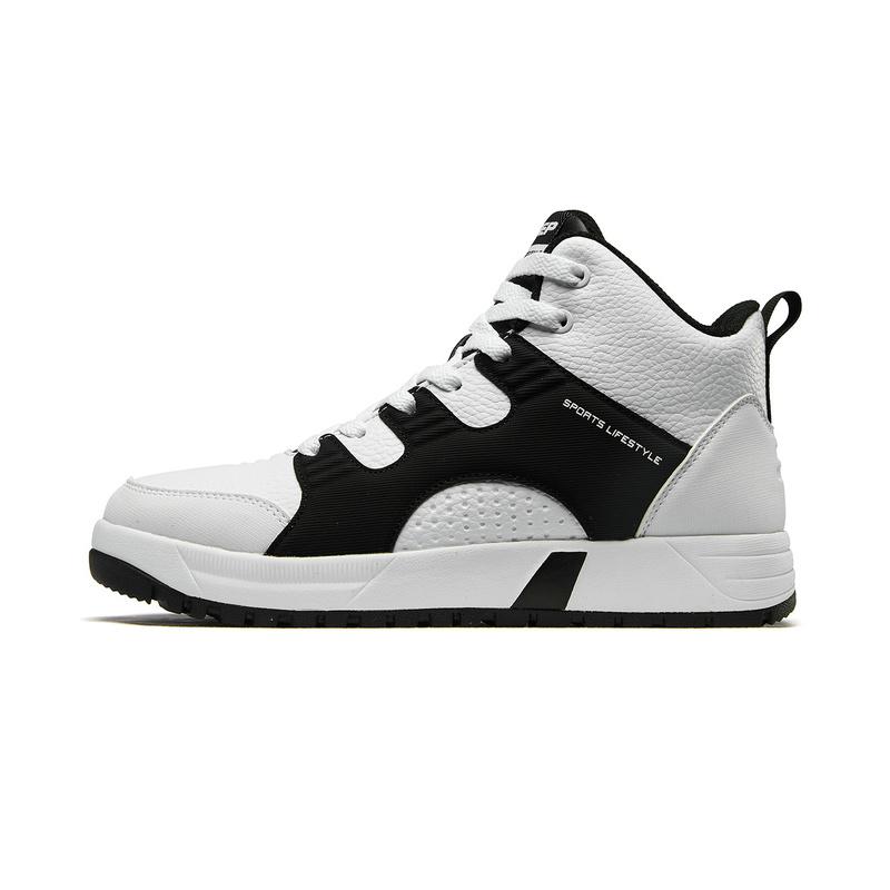 特步 女子棉鞋 冬新款休闲高帮加绒保暖情侣运动板鞋882418379561
