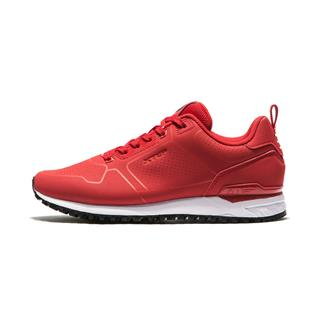 特步 专柜款 女子跑鞋2019春季冬季新款轻便皮面经典休闲运动鞋981118326863