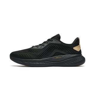 特步 专柜款 男子柔立方跑鞋革面舒适轻便运动鞋981119110185