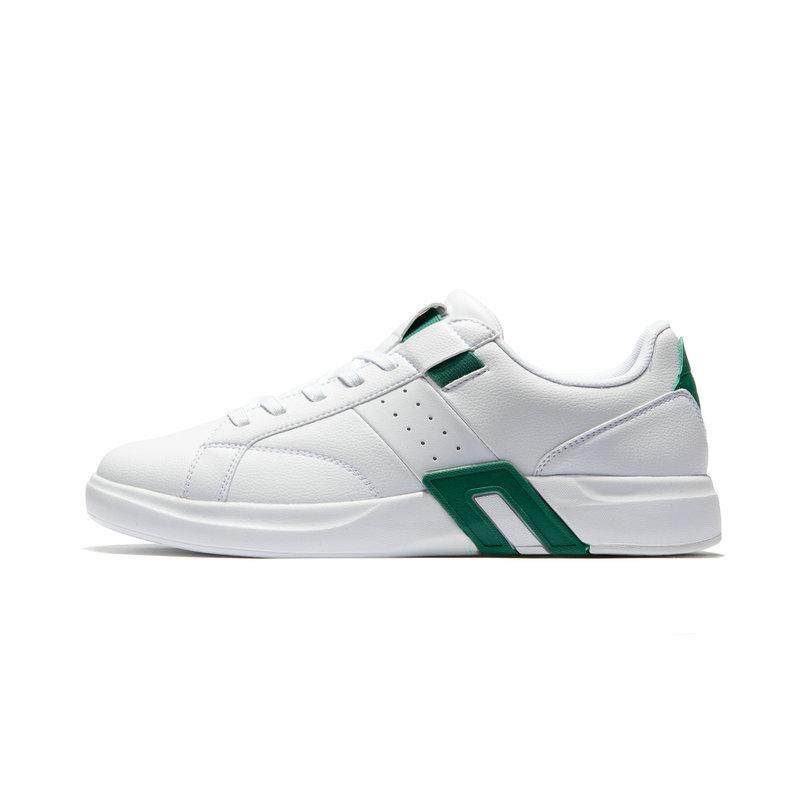 特步 专柜款 男子滑板鞋2019春季新款运动鞋潮流绿尾小白鞋男鞋981119316023