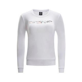 特步 专柜款 女子卫衣字母纯色圆领运动套头衫女981128051893