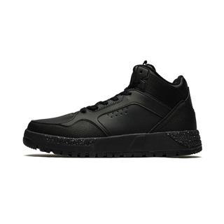 特步 专柜款 男子棉鞋 冬季新款时尚革面系带保暖高帮运动鞋982419371072