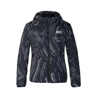 特步 专柜款 女子羽绒服 冬季新款时尚保暖连帽短款休闲外套982428190771