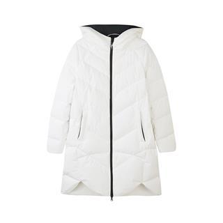 特步 专柜款 女子羽绒服 冬季新款时尚简约保暖中长款休闲女外套982428190848