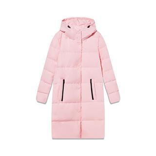 特步 专柜款 女子羽绒服 冬季新款运动保暖休闲时尚长款外套982428190924