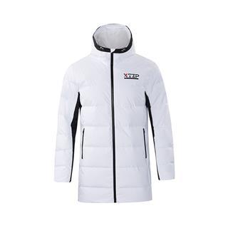 特步 男子冬季户外运动舒适保暖百搭时尚长款羽绒服882429199316