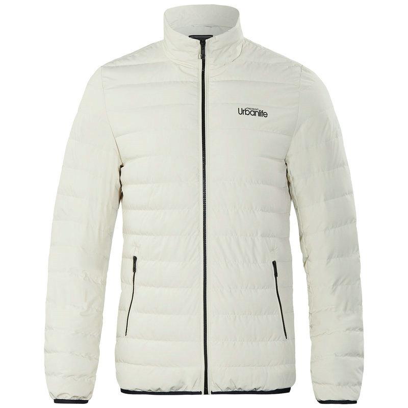 特步 专柜款 男子羽绒服 冬季新款保暖立领纯色休闲外套982429190844