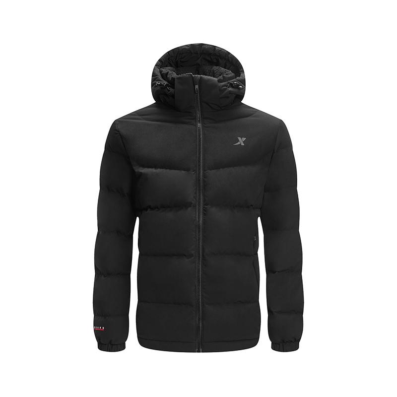 特步 专柜款 男子羽绒服 冬季新款都市时尚保暖连帽运动外套982429190862