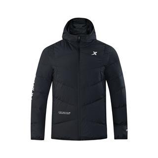 特步 专柜款 男子羽绒服 冬季新款简约舒适休闲连帽保暖外套982429190886