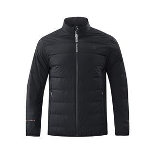 特步 专柜款 男子羽绒服 冬季新款休闲纯色短款立领运动外套982429190891