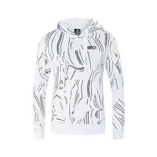 特步 专柜款 女子卫衣 冬季新款简约连帽短款健身套头衫982428051741