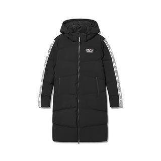 特步 专柜款 女子羽绒服 冬季新款连帽中长款保暖休闲外套982428190795