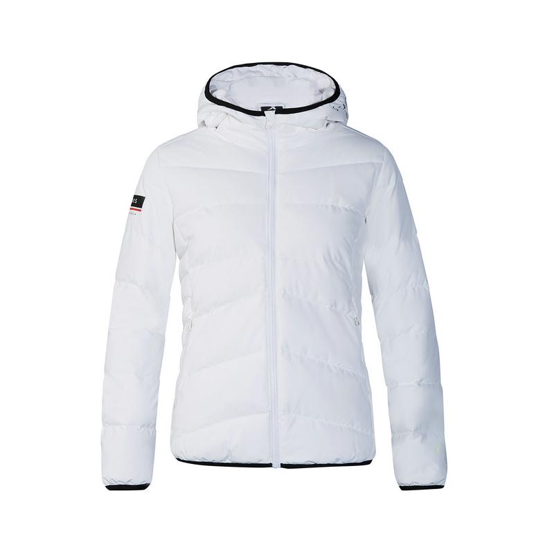 特步 专柜款 女子羽绒服 冬季新款轻薄羽绒短款运动女外套982428190867