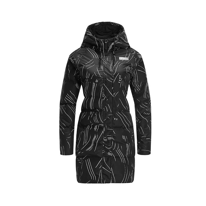 特步 专柜款 女子羽绒服 冬季新款运动休闲保暖中长款外套982428190870