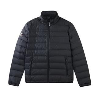 特步 专柜款 男子羽绒服 冬季新款简约休闲保暖短款运动外套982429190922