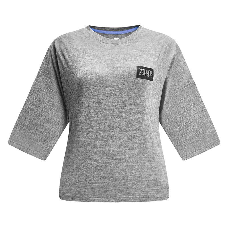【2件99】特步 女子春季新款短袖针织衫运动健身T恤881128019007
